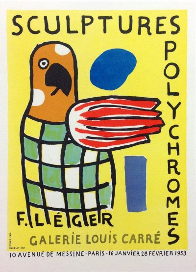 "Leger 33 ""Sculptures polychromes"" Art in posters printed 1959 Mourlot"