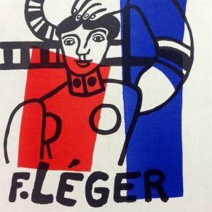 """Leger 35 Lithograph """"Fernand Leger 1955"""" Mourlot Art in posters"""