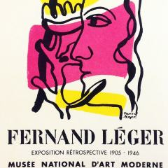 "Leger 31 ""Fernand Leger"" Art in posters printed 1959 Mourlot"