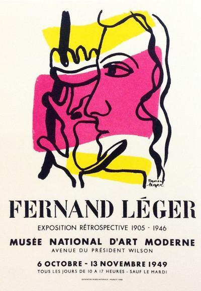 "Leger 31 ""Fernand Leger"" Art in posters printed 1959 Mourlot"