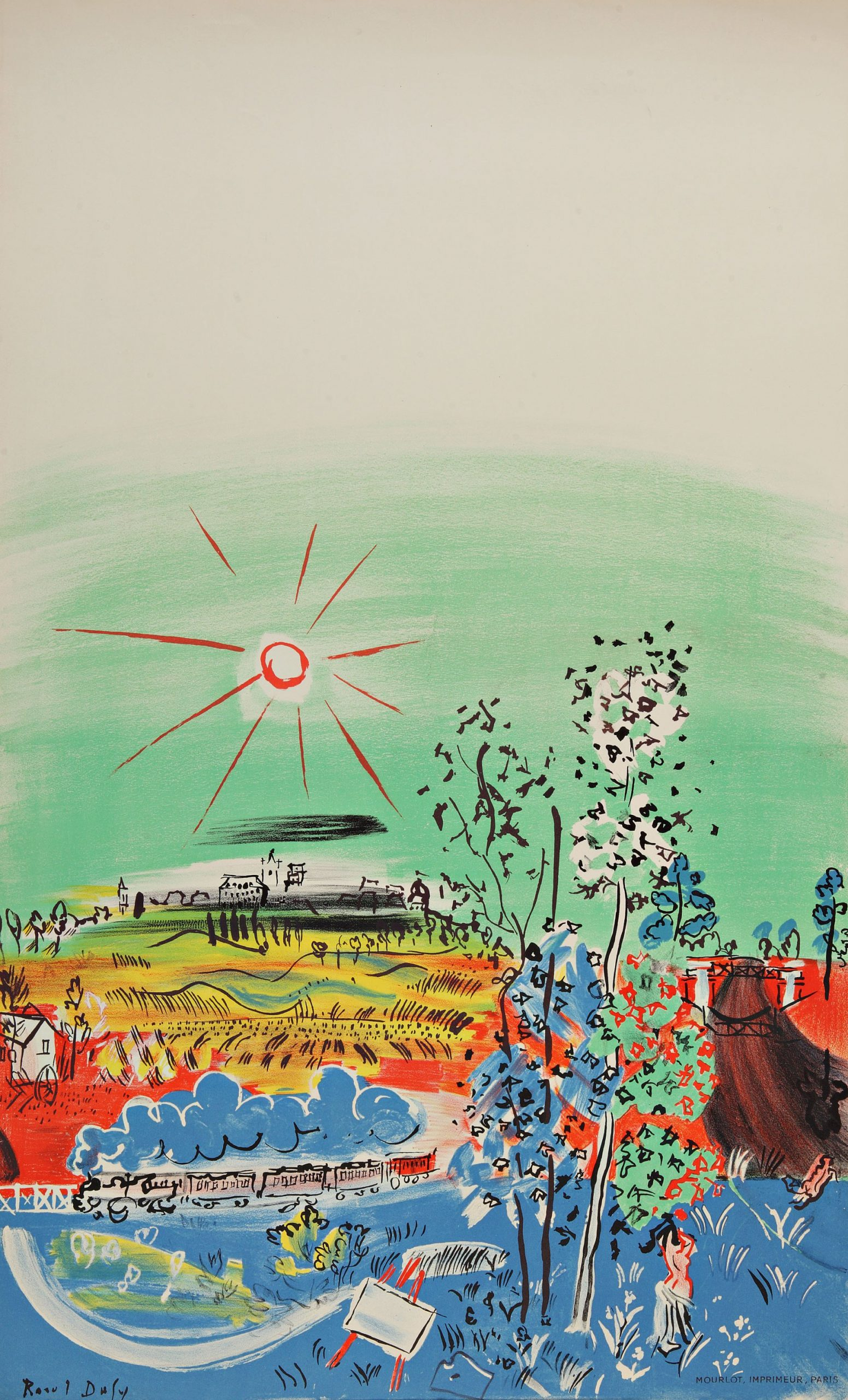 """Dufy 28 """"Exposition d'art francaise"""" printed 1959 Mourlot, Art in posters"""