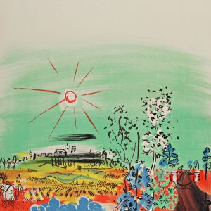 Dufy Lithograph 28, Exposition d'art francaise, Art in Posters