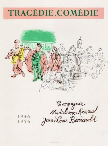 Dufy Lithograph 30, Tragedie comedie, Art in posters