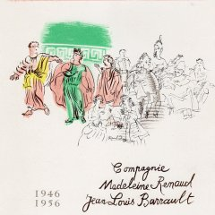 Raoul Dufy 30, Lithograph Tragedie comedie, Art in posters Mourlot 1959,  Mid-century Modern