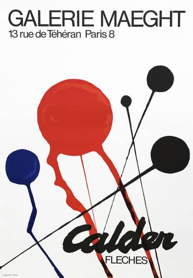 "Calder Poster Original Lithograph ""Fleches"""