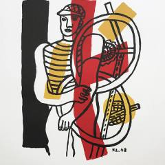 "Fernand Leger ""Le Cycliste""Lithograph Maeght"