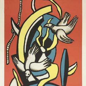 """Fernand Leger """"Les oiseaux"""" Lithograph on Vellum paper"""