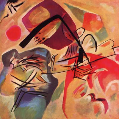 Wassily Kandinsky, The black Curves, Giclee Limited Edition