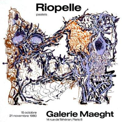 "Riopelle ""Pastel 1980"" Poster original Lithograph"