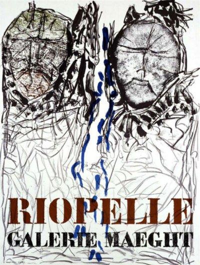 "Riopelle ""Visage 1974"" Poster Original Lithograph"