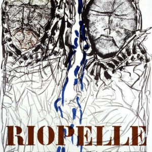 Riopelle Jean-Paul, Visage 1974, Poster Original Lithograph