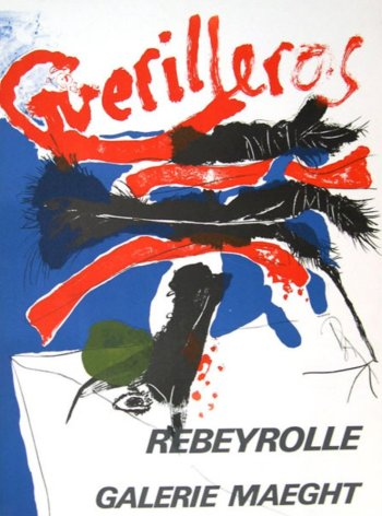 Rebeyrolle Guerilleros, Poster Lithograph modern art