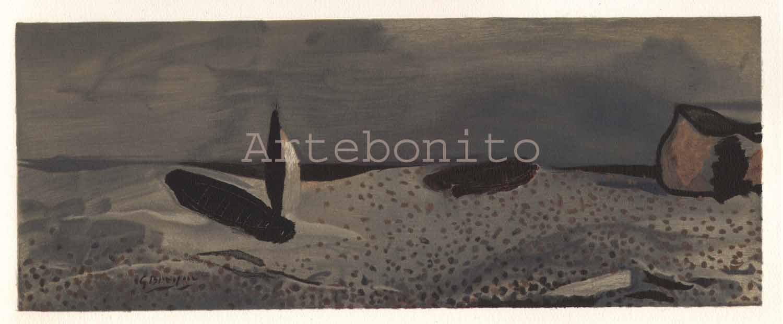 "Braque ""A la voile deployee 1952"" Lithograph 1968"