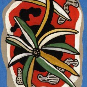 """Leger """"La fleur sur fond rouge"""" L.E & numbered Giclee"""