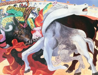 "Picasso Poster ""Corrida la mort du torero"""