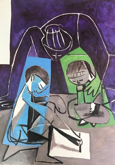 "Picasso Poster ""Claude dessinant"""