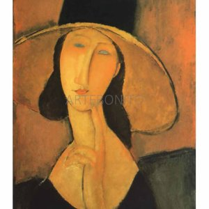 Amedeo Modigliani  woman with hat, Giclee Numbered Edition, Impressionist, Modern