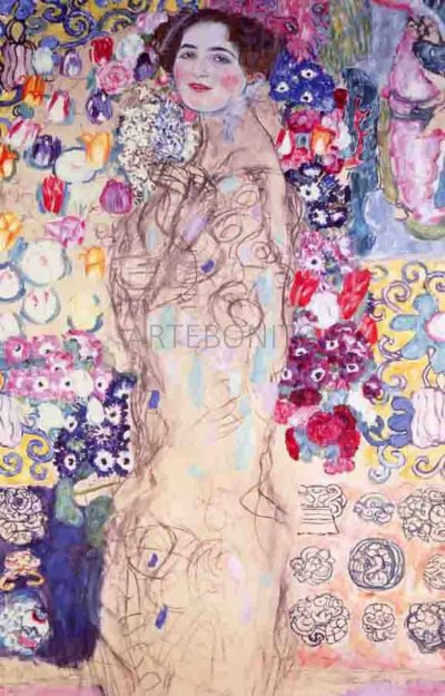 """Klimt """"Portrait of a lady"""" L.E & numbered Giclee"""