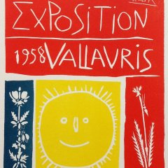 "Picasso 95 ""Exposition Vallaris 1958"" Art in posters"