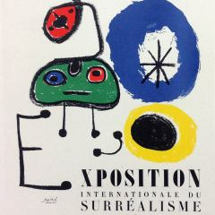 Joan Miro Lithograph, Art in posters