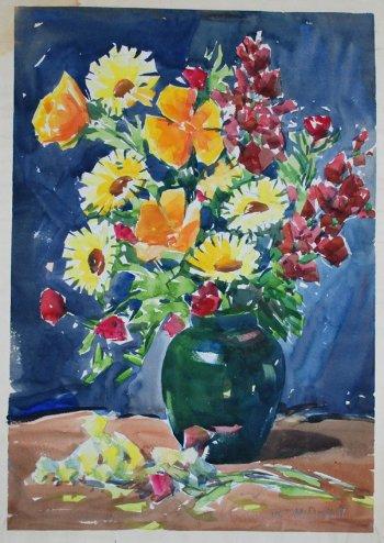 "William McDeymitt ""Flowers Bouquet"" Acrylic"
