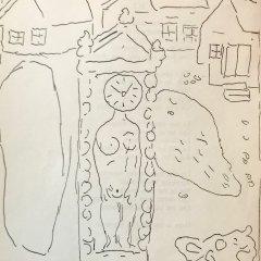 """Marc Chagall 5 """"Le dur desir de durer"""" Lithograph 1950"""