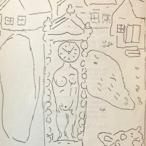 Chagall Lithograph 5, Le Dur desir de durer 1950