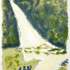 """Jules Cavailles """"8"""" Original Lithograph 1962, Mourlot"""