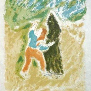 Jules Cavailles Original Lithograph, Untitled 10