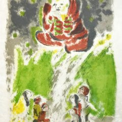 """Jules Cavailles """"12"""" Original Lithograph 1962, Mourlot"""