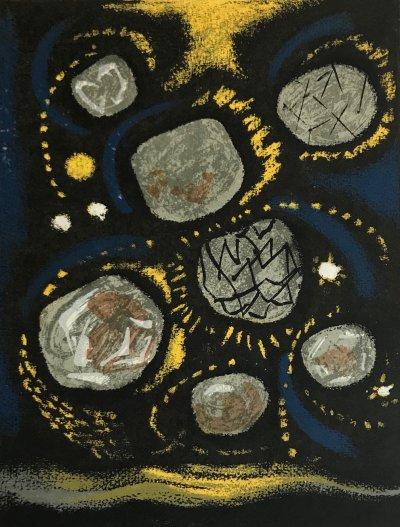 "Andre Masson ""1"" Original Lithograph 1962, Mourlot"
