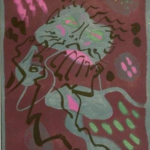 "Andre Masson ""6"" Original Lithograph 1962, Mourlot"