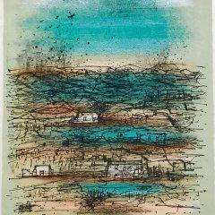 """Jean Carzou """"12"""" Original Lithograph 1962 Mourlot"""