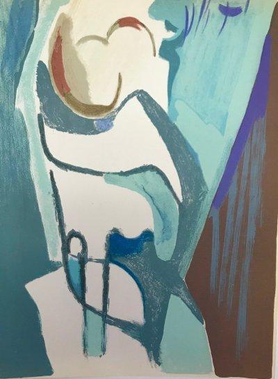 "Francisco Bores ""2"" Original Lithograph 1961 Mourlot"