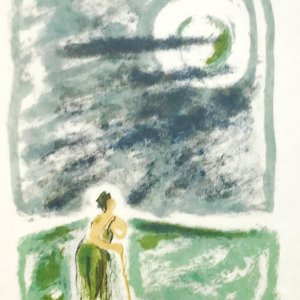 """Jules Cavailles """"2"""" Original Lithograph 1962, Mourlot"""
