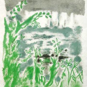 """Jules Cavailles """"4"""" Original Lithograph 1962, Mourlot"""