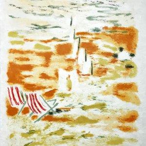 """Jules Cavailles """"7"""" Original Lithograph 1962, Mourlot"""