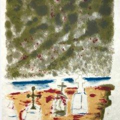 """Jules Cavailles """"14"""" Original Lithograph 1962, Mourlot"""