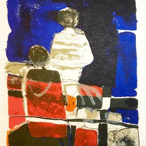 Paul Guiramand, Lithograph 1962, Untitled 14