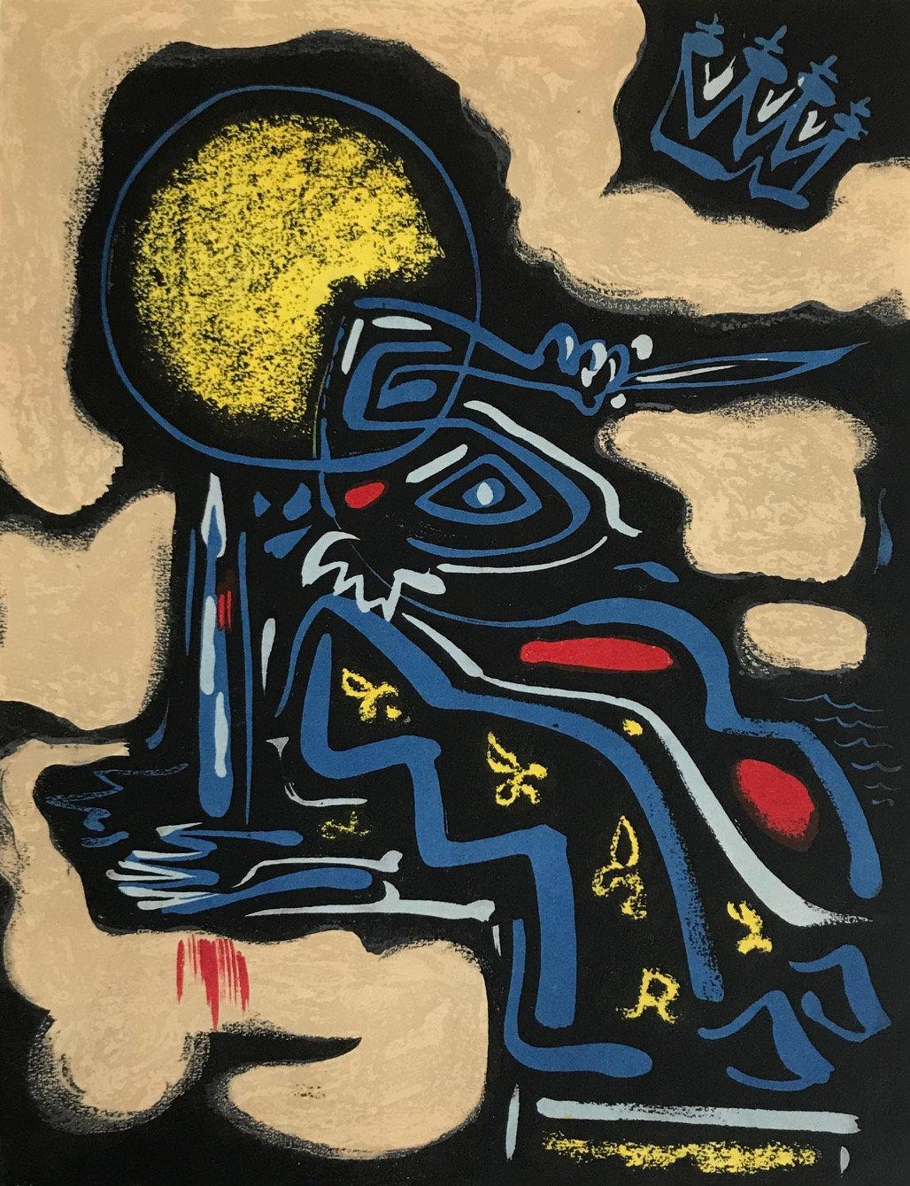"Andre Masson ""2"" Original Lithograph 1962, Mourlot"