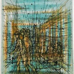 Jean Carzou Original Lithograph 6, Mourlot 1962