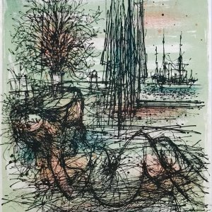 Jean Carzou Original Lithograph 8, Mourlot 1962