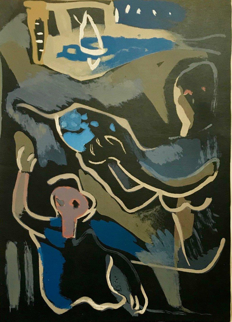 "Francisco Bores ""7"" Original Lithograph 1961 Mourlot"