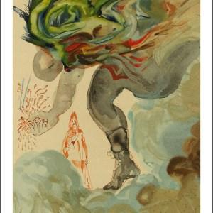 Salvador Dali Woodcut, The Giants – Hell 31