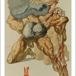 Salvador Dali Woodcut, Avaricious & Prodiga - Hell 7
