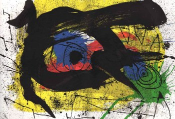 1973 Joan Miro Lithograph Sobreteixims 3