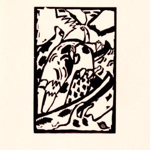 Kandinsky Woodcut for Klange 3, XX siecle 1975