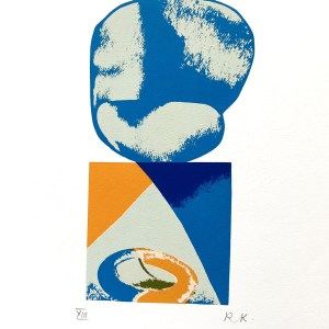 1978-Ronald king Screen print Pencil Signed Numbered, The Cook 1978