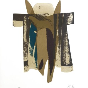 1978-Ronald king Screen print Pencil Signed Numbered The Knights Horse