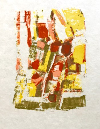 Orlando pelayo original lithograph, untitled 16
